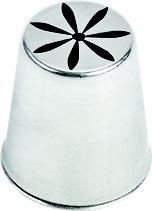 DOUILLE INOX DECOR FLEUR N°254