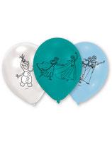 6 Ballons latex bleu La Reine des Neiges™