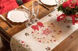Chemin de table couronne Noel 3m