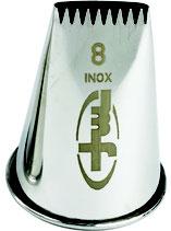 DOUILLE BUCHE INOX 8 DENTS