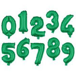 Ballon en forme de chiffre Vert
