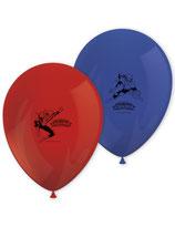 8 Ballons en latex Spiderman™ bleu et rouge