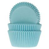HOUSE OF MARIE BAKING CUPS TURQUOISE PCS/50