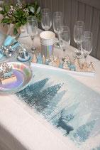 Chemin de table sapin Bleu 5m