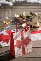 Sac cadeaux Noel rouge/50