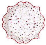 Assiette noel rouge/10