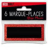 Marque places paillettes x6