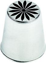 DOUILLE INOX DECOR FLEUR N°249
