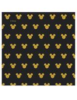 20 Serviettes en papier Mickey Gold™ 33 x 33 cm