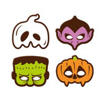 Plaquette masques halloween en chocolat/6
