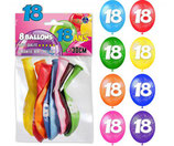 ballon latex age x8