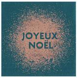 Serviette Noel bleu canard/20
