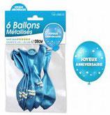 Ballon anniversaire (x6)