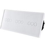 Glaspaneel voor 3 lichtpunten    86 x 228 mm