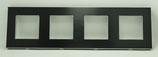 Glas frame voor 4 aansluitingen 86 x 299 mm