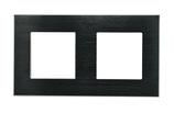 Frame voor 2 schakelaars of componenten