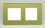 Glasframe voor 2 aansluitingen 86x157 mm