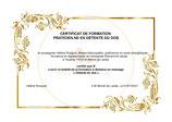 Evaluation corrective en vue de l'obtention du certificat de Praticien en Détente du dos (Optionnel) .