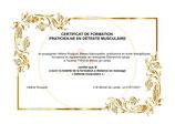 Evaluation corrective en vue de l'obtention du certificat de Praticien en Détente musculaire (Optionnel) .