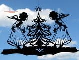 Art.Nr.: 8010F Fensterbild Engel mit Tanne