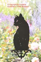 Art.Nr.: 6036G Gartenstecker Katze