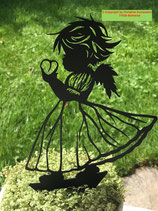 Art.Nr.: 6285ST - K - Pflanzenstecker Engel mit Herz KLEIN