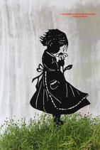 Art.Nr.: 6223ST - Pflanzenstecker Mädchen mit Blume
