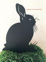 Art.Nr.: 6221ST - Pflanzenstecker Hase hockend