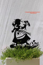 Art.Nr.: 6214ST - Pflanzenstecker Mädchen