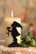 Art.Nr.: 6106K Kerzenständer Zwerg mit Blume