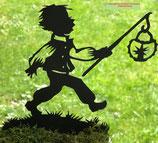 Art.Nr.: 6294ST - Pflanzenstecker Junge mit Laterne