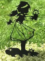 Art.Nr.: 6281ST - K - Pflanzenstecker Engel mit Kerze KLEIN