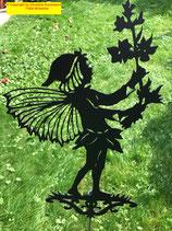 Art.Nr.: 6062G Gartenstecker Elferich mit Blume