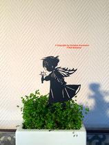 Art.Nr.: 6252ST-K - Pflanzenstecker Engel mit fliegendem Rock - KLEIN