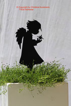 Art.Nr.: 6240ST-K - Pflanzenstecker Engel mit Stern- KLEIN