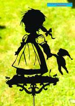 Art.Nr.: 6050G Gartenstecker Mädchen mit Kasperl