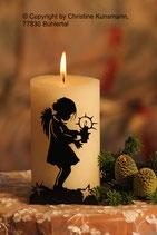 Art.Nr.: 6111K Kerzenständer Engel mit Kerze