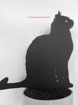 Art.Nr.: 6302ST - Pflanzenstecker Katze