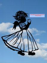 Art.Nr.: 8004F Fensterbild Engel mit Herz