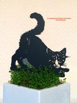 Art.Nr.: 6253ST - Pflanzenstecker Kätzchen gestreckt
