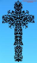 Art.Nr.: 8020F Fensterbild Kreuz