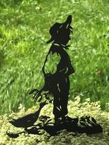 Art.Nr.: 6278ST - Pflanzenstecker Junge mit Gans