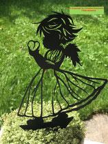 Art.Nr.: 6285ST - M - Pflanzenstecker Engel mit Herz MITTEL