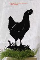 Art.Nr.: 6022ST - Pflanzenstecker Huhn