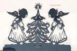 Art.Nr.: 7623DE Deko 2 Engel mit Tanne