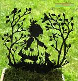 Art.Nr.: 6289ST - Pflanzenstecker Mädchen mit Hund