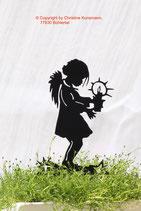 Art.Nr.: 6211ST-M - Pflanzenstecker Engel mit Kerze - MITTEL