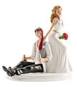 Sposi simpatici sposo ubriaco