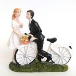 Sposi su bicicletta