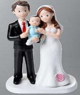 Sposi con baby azzurro